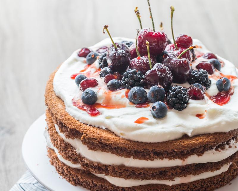 Forêt-Noire façon Naked cake pour la Bataille Food #24