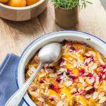 Apricot, Rosemary & Currants Gratin