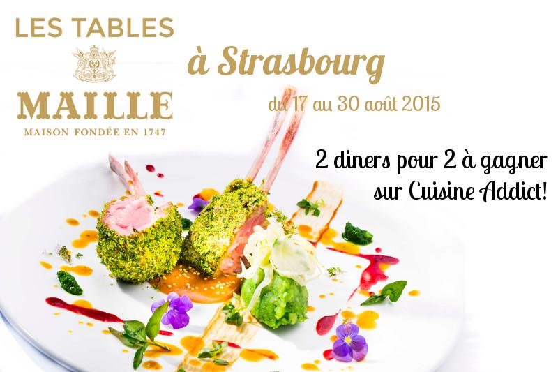 Les Tables Mailles </br>{2 x 2 menus à la Brasserie Les Haras à gagner}