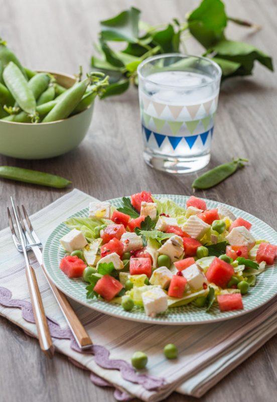 Salade fraîche Pastèque & Fromage de brebis