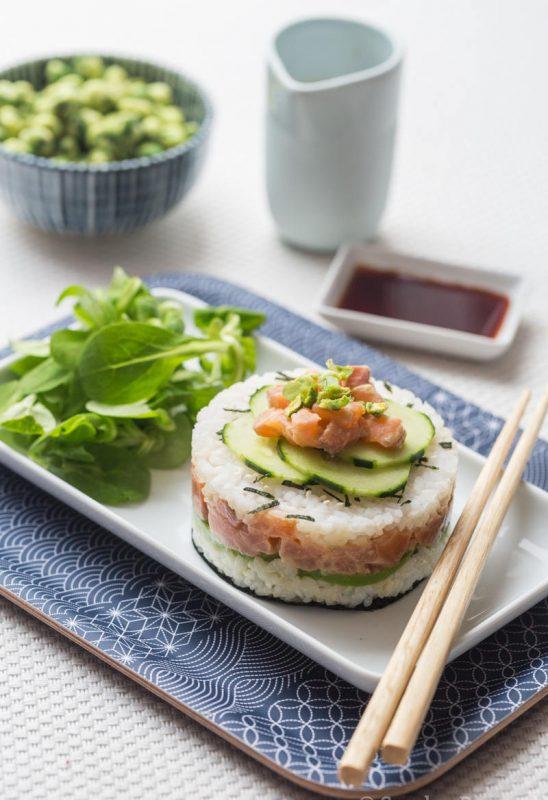 Sushi cake, sushi individuel facile