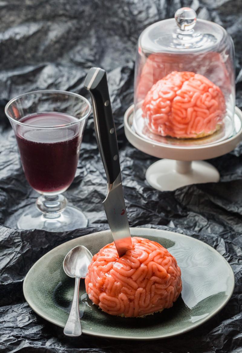 Gâteau cervelle pour Halloween