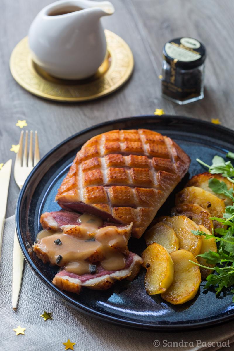 Magret de canard sauce p rigueux aux pommes fondantes for Cuisine addict