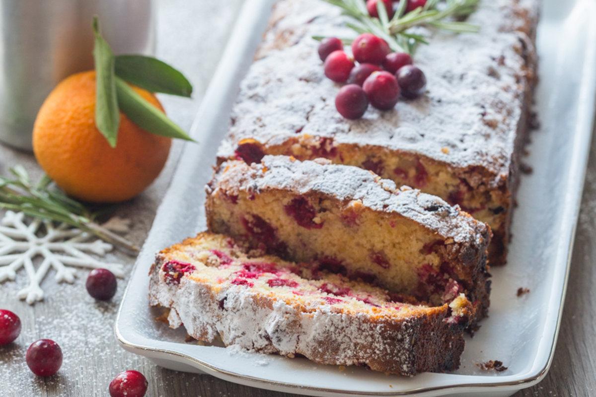 Cake aux Cranberries, Mandarine & Romarin