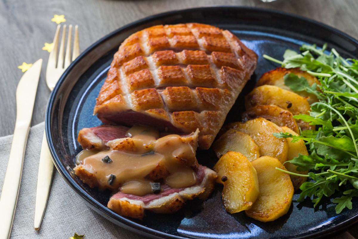 Magret de canard sauce p rigueux aux pommes fondantes for Comidas francesas