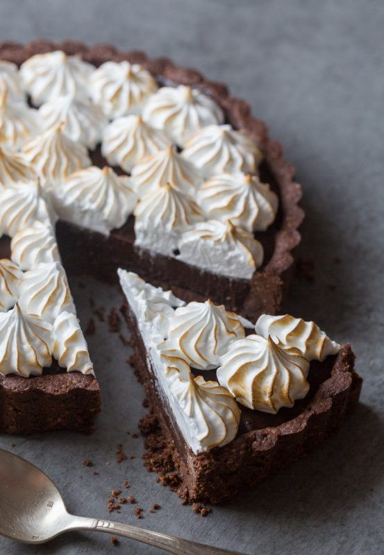 Tarte chocolat noisette meringuée