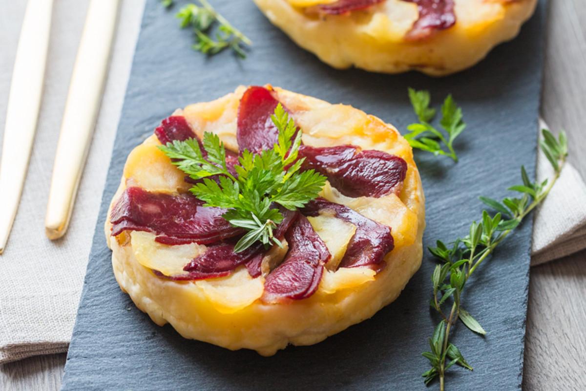 Tarte tatin aux Pommes &#038; Magret de</br>Canard