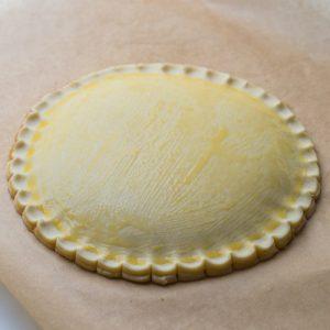 Préparation de la galette praliné & fruit de la passion