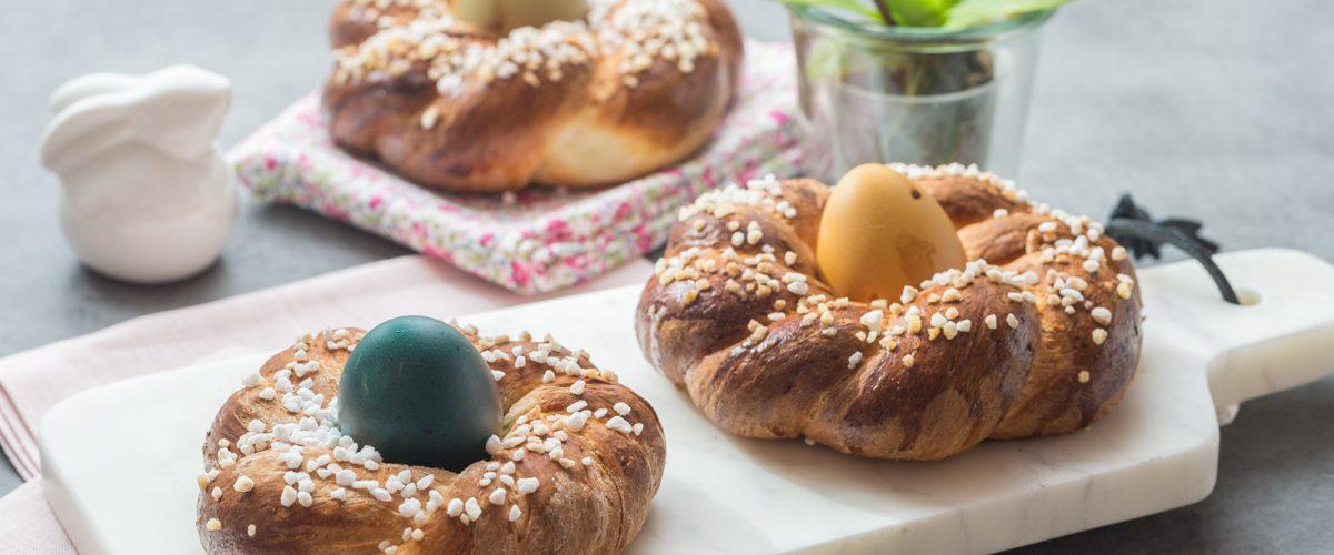 Nids de Pâques briochés