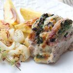"""Filet mignon façon """"Orloff"""" aux bettes, mozzarella et la poitrine fumée"""