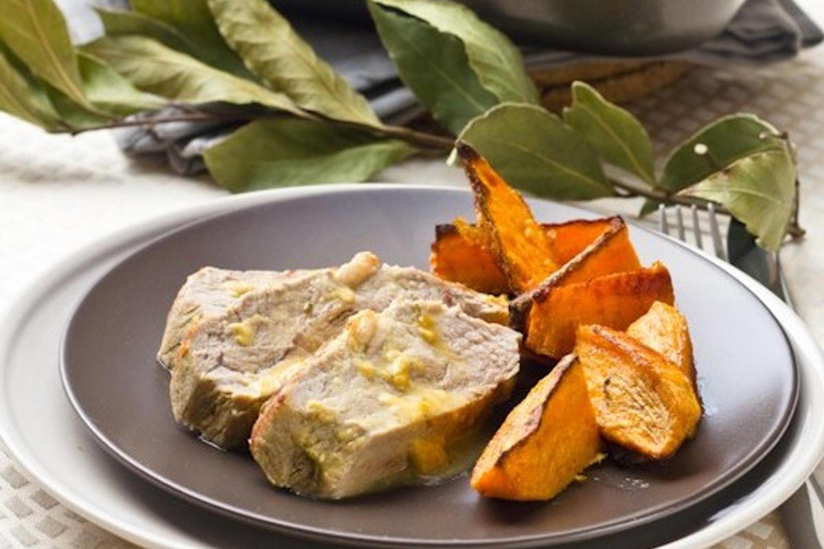 Noix de veau braisée à la Moutarde et au Miel & Frites de Patates douces
