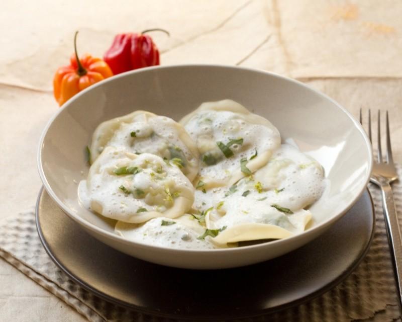 Ravioles de Daurade Thaï et leur émulsion Coco - Citron vert