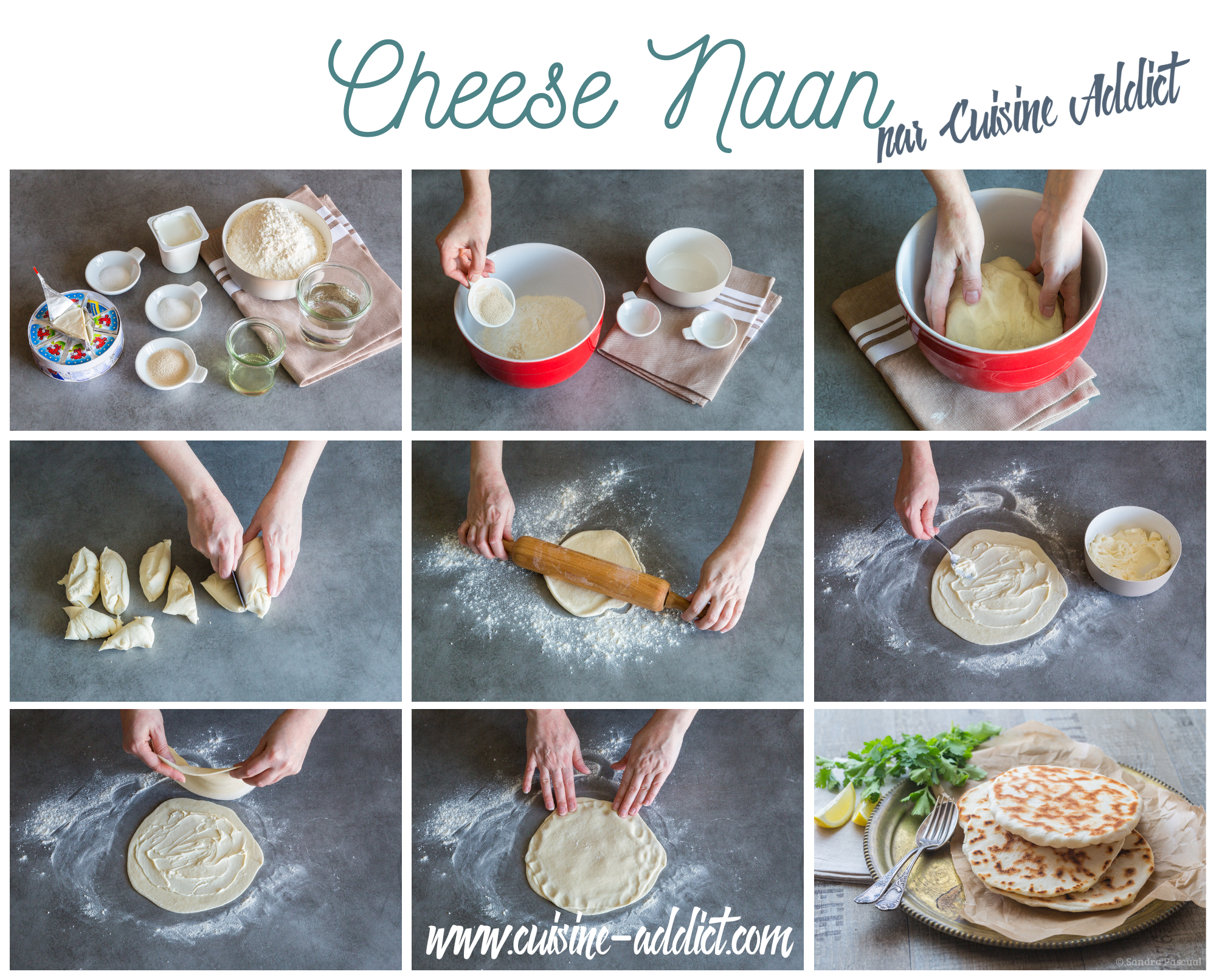 Naan au fromage indien