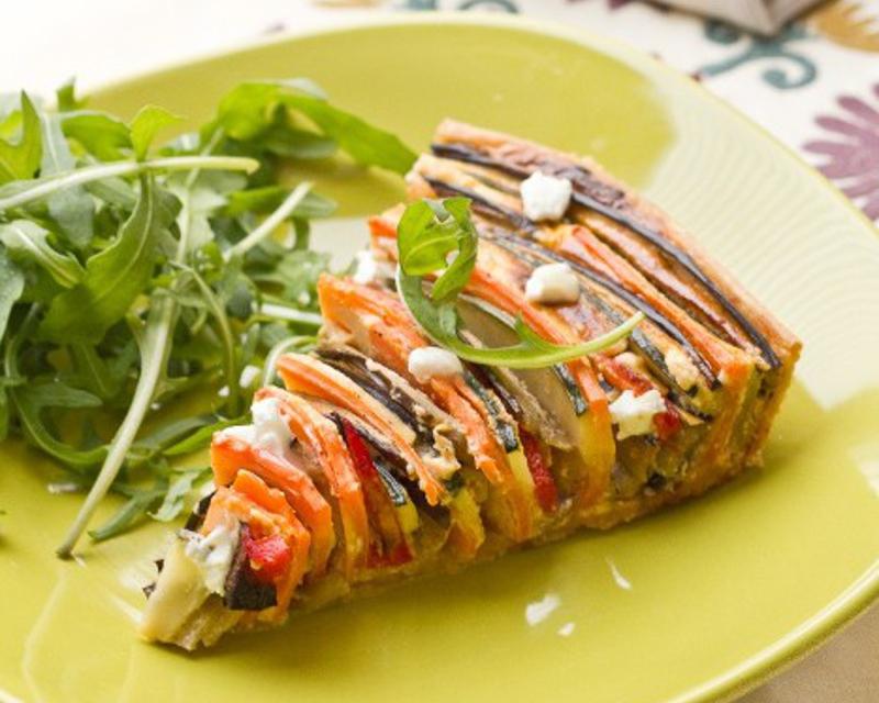 tarte proven ale en spirale courgette aubergine poivron carotte cuisine addict. Black Bedroom Furniture Sets. Home Design Ideas