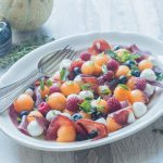 Fruity salad with Melon, Mozzarella & Bresaola