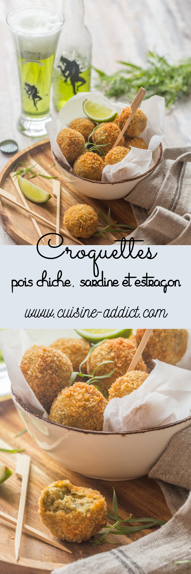 Croquettes de Pois chiche & Sardines à l'Estragon