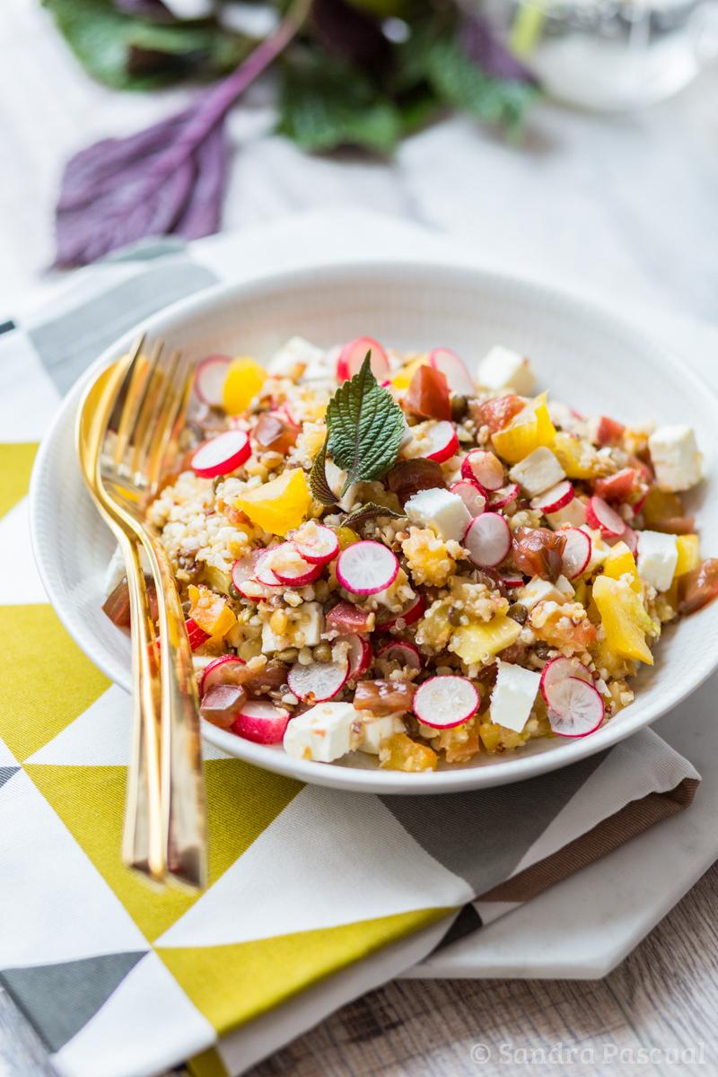 Salade quinoa, lentille et feta