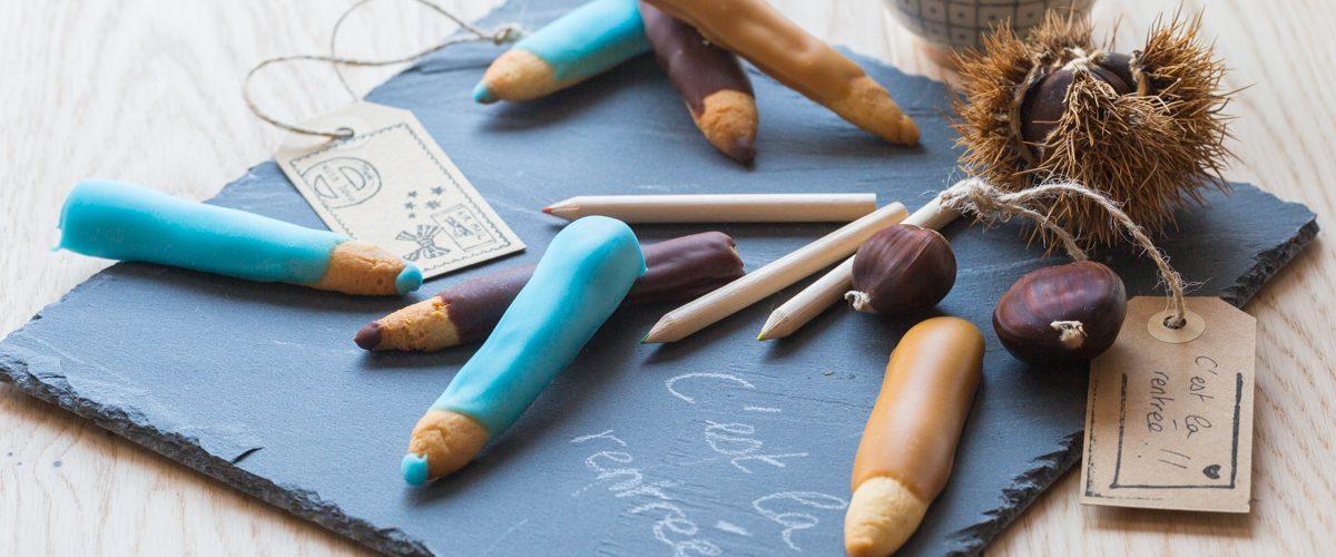Biscuits crayon pour la rentrée des classes