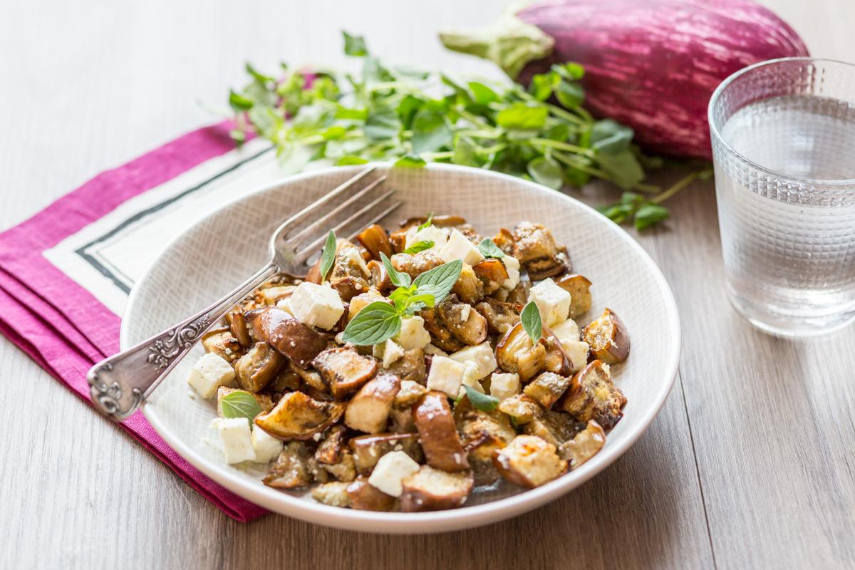 Salade d'aubergines rôties