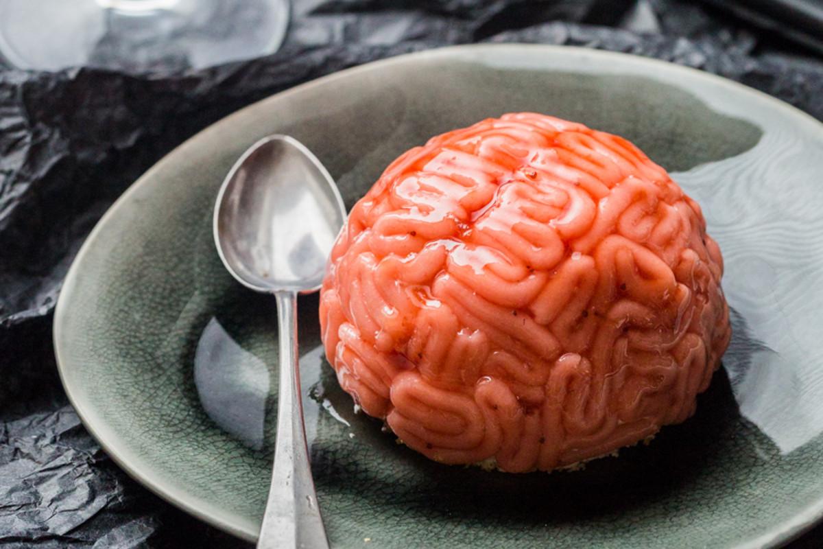 Cervelles de zombies vanille fraise dessert pour - Recette dessert halloween ...