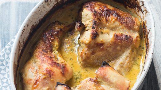 Préparation lapin à la moutarde