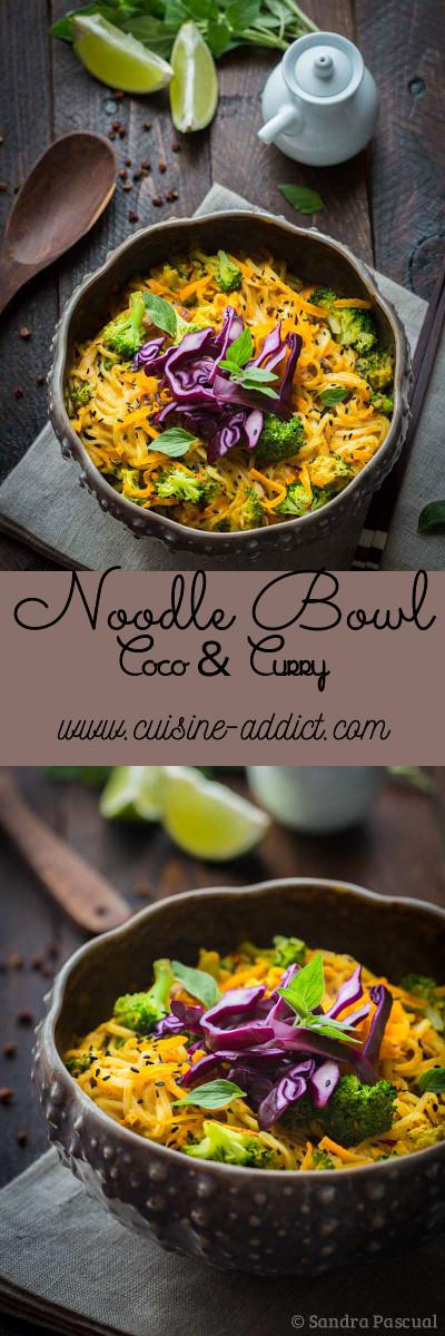 Nouilles de riz aux légumes, Sauce coco-curry