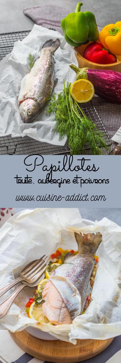 Papillote de Truite au Poivrons et Aubergines
