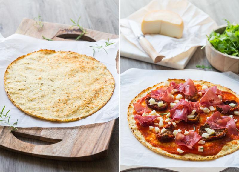 Préparation pizza légère