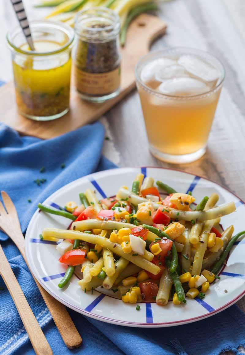 Salade aux haricots verts et beurre