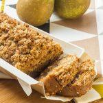 Cake moelleux aux Poires & Epices,</br>Streusel croustillant
