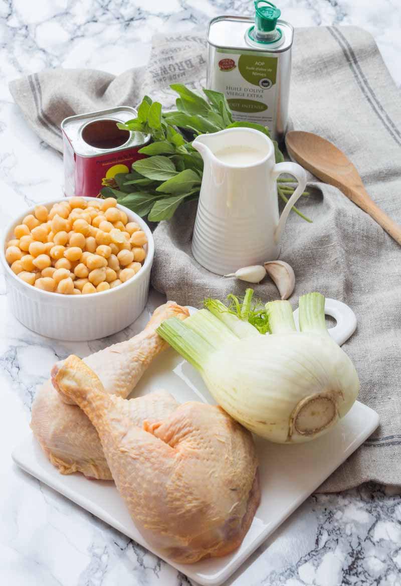 Cuisses de Poulet au Fenouil et Pois chiche