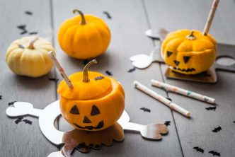 Soupe courge, pomme et curry pour Halloween