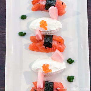 Truite saumonée en sashimi Terroir & Co