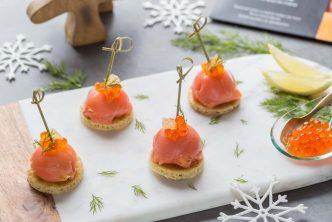 Dômes de saumon fumé au fromage frais et fenouil