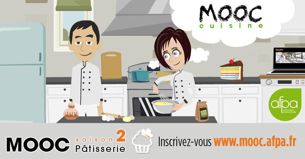 Une formation dédiée à la pâtisserie gratuite ? Le Mooc cuisine de l'Afpa revient pour une saison 2 !