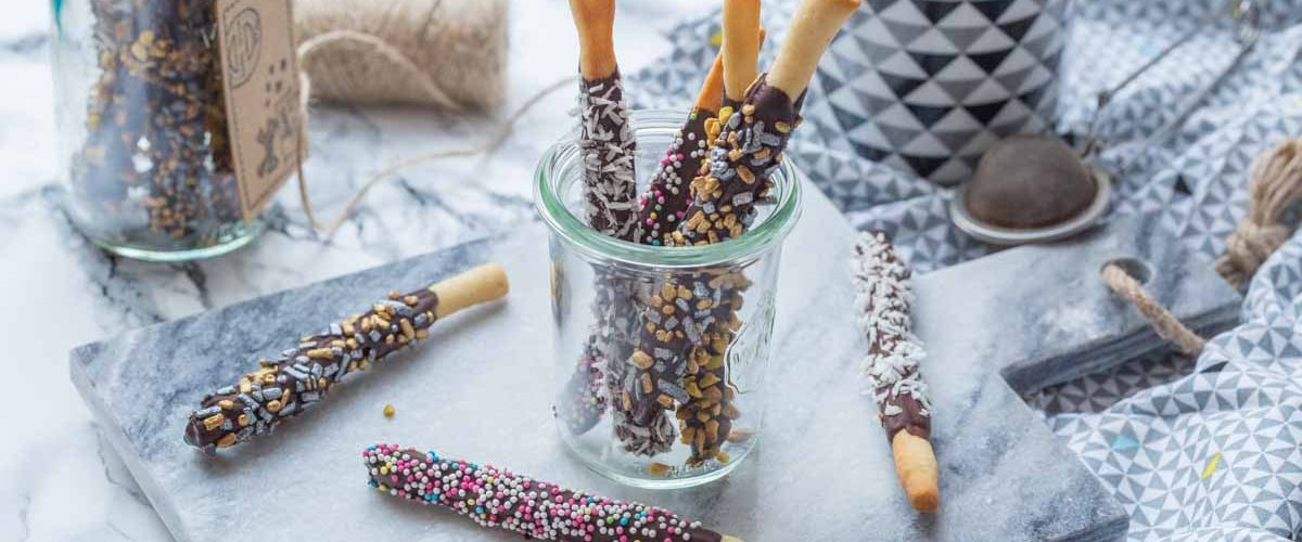 Bâtonnets croquants au chocolat