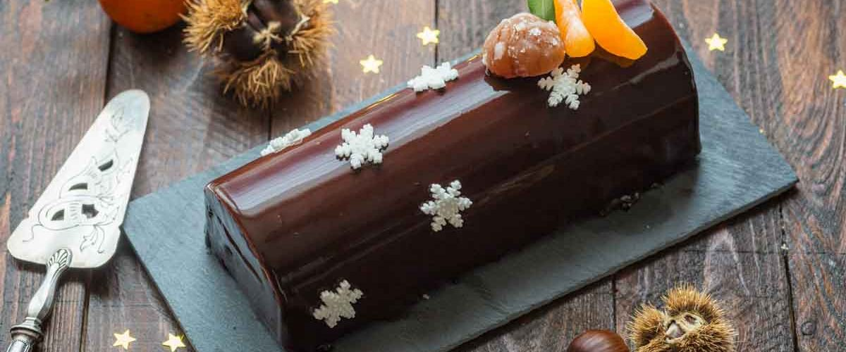 Buche au chocolat glacage miroir