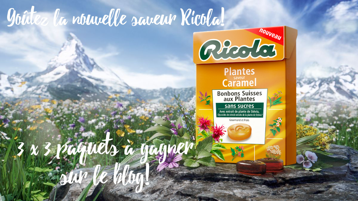 Du nouveau dans les bonbons ! Ricola Plantes saveur Caramel </br>{Concours en fin d'article}