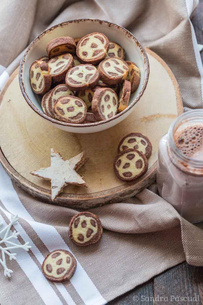 Sablés vanille et chocolat léopard