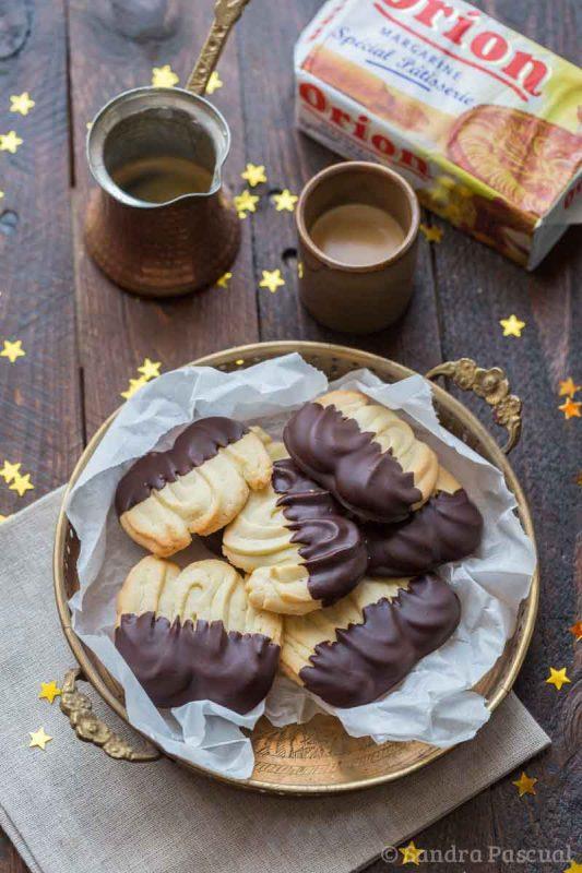 Spritz bredele au chocolat