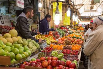 Fruits et légumes au marché de Jérusalem