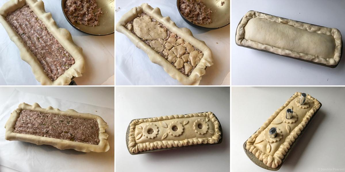 Pas-à-pas de réalisation d'un pâté en croute maison