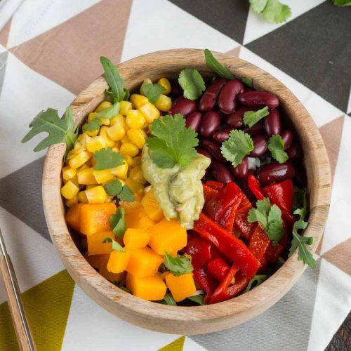 Recette de bowl végétarien façon méxicaine