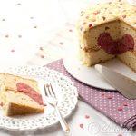 Gâteau Coeur Vanille & Framboise pour la St Valentin {Tuto pour la découpe en coeur inside!}