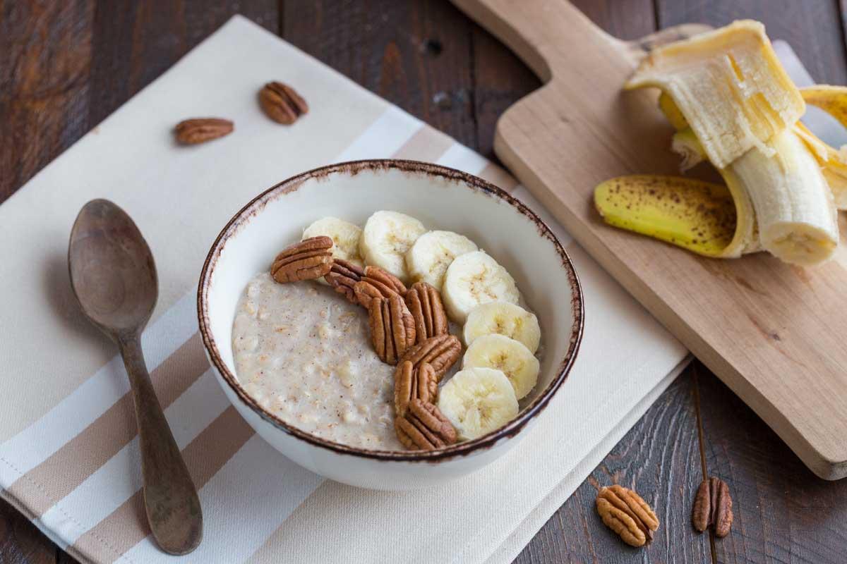 Porridge Banane et Pécan