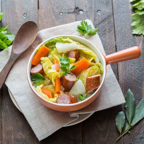 Recette de soupe paysanne au chou