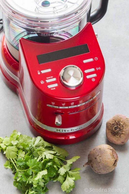 Falafels à la betterave au Cook Processor