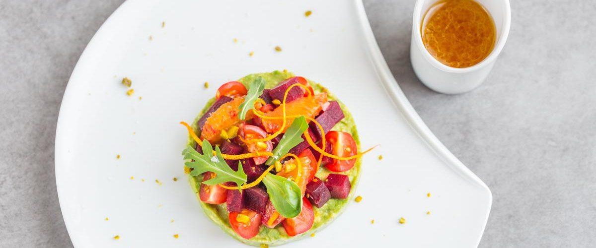 Salade de betterave et avocat