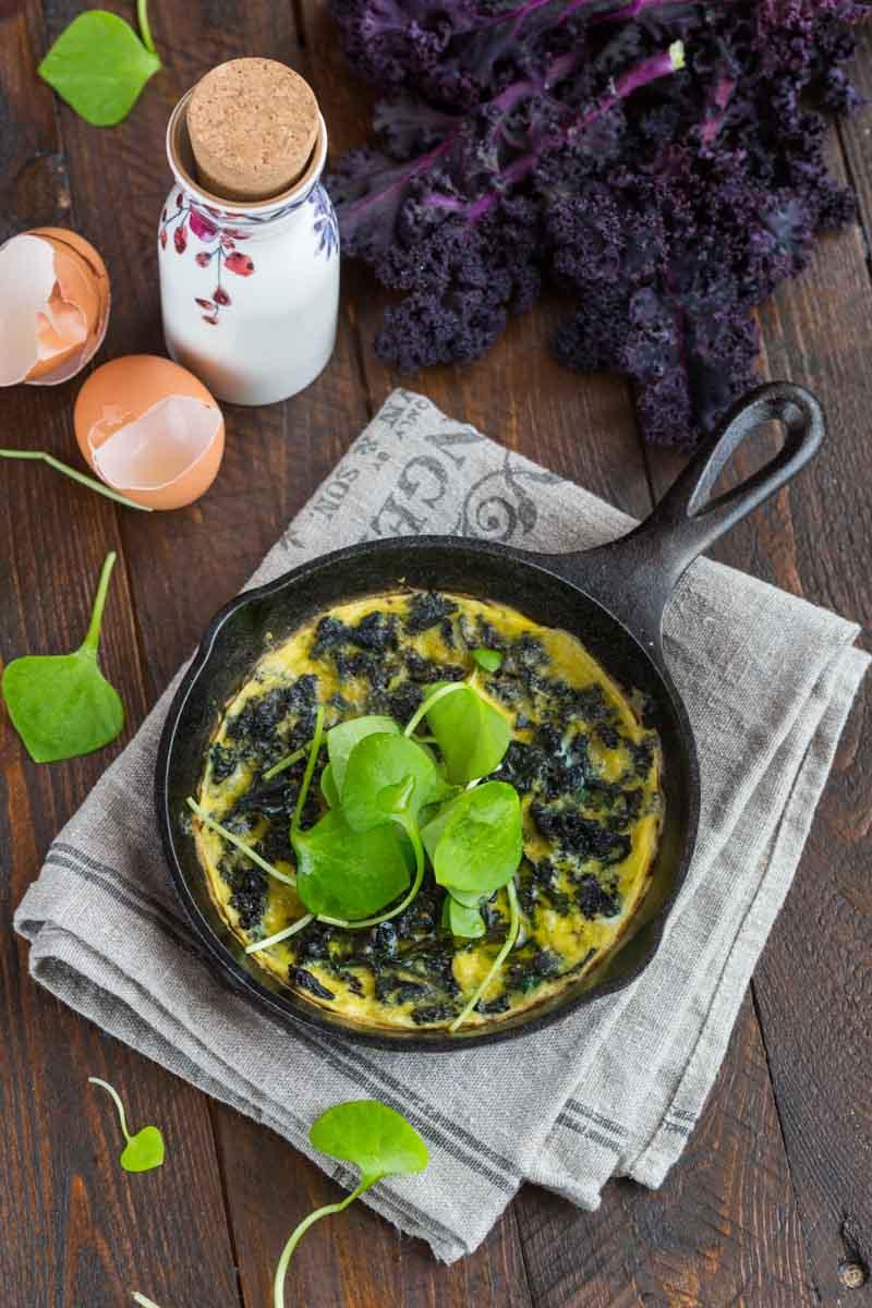 Omelette au kale