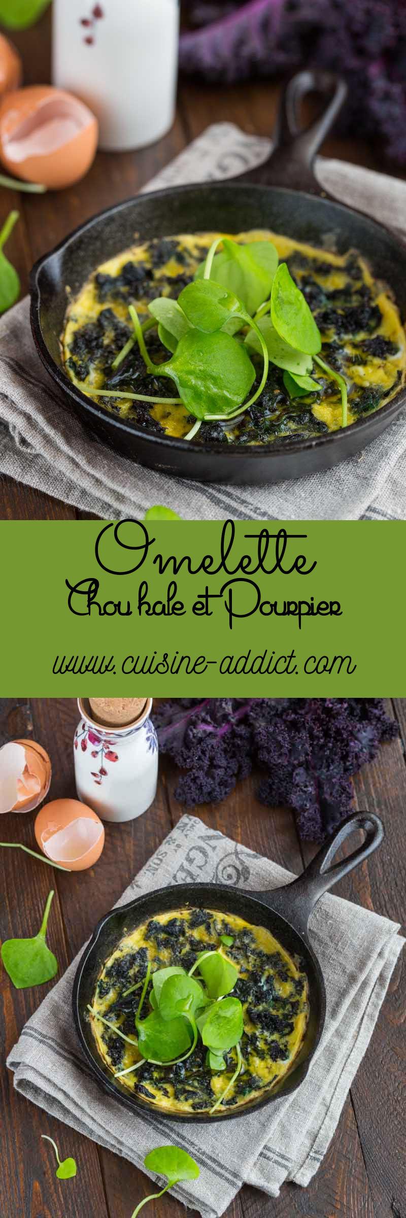 Omelette au chou kale et pourpier